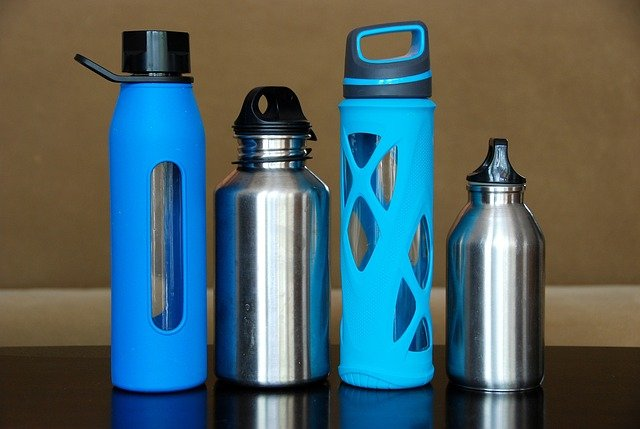 Reusable water bottle for plastic free july