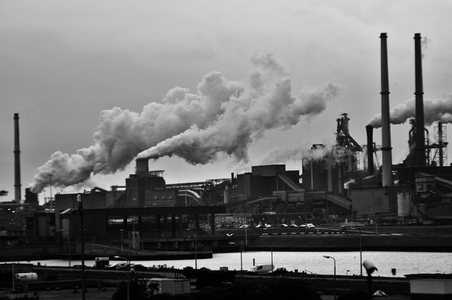 Burning of fossil fuel in industries as a cause of climate change