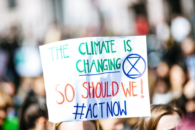Climate change placard