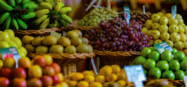 Fruit basket in a store