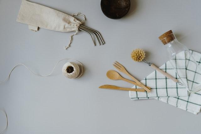 Reusable straw, cutlery, bottle, brush